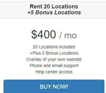 Rent 20 Location on Texas Man and van